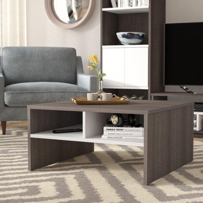 Latitude Run Frederick Storage Coffee Table With Magazine Rack