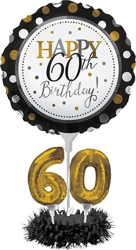 The Party Aisle 60th Birthday Balloon Centerpiece Kit