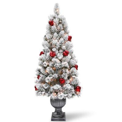 Flocked Christmas Trees You Ll Love Wayfair
