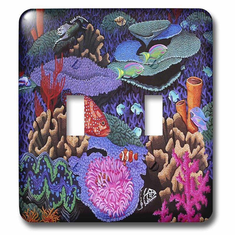 3drose Colorful Fish 2 Gang Toggle Light Switch Wall Plate Wayfair