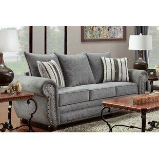Darby Home Co Conradine Platinum Stripe Sofa