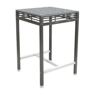 Panama Jack Outdoor Graphite Bar Table