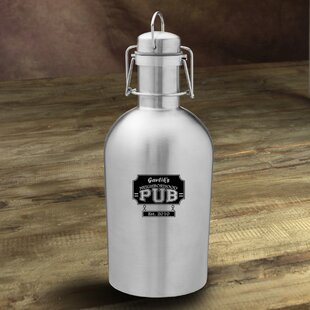 Neighborhood Pub Personalized 64 oz. Stainless Steel Growler