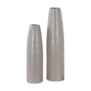 Gray 2 Piece Vase Set