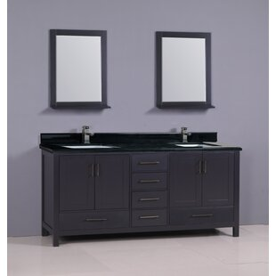 Flannery 72 Double Bathroom Vanity Set