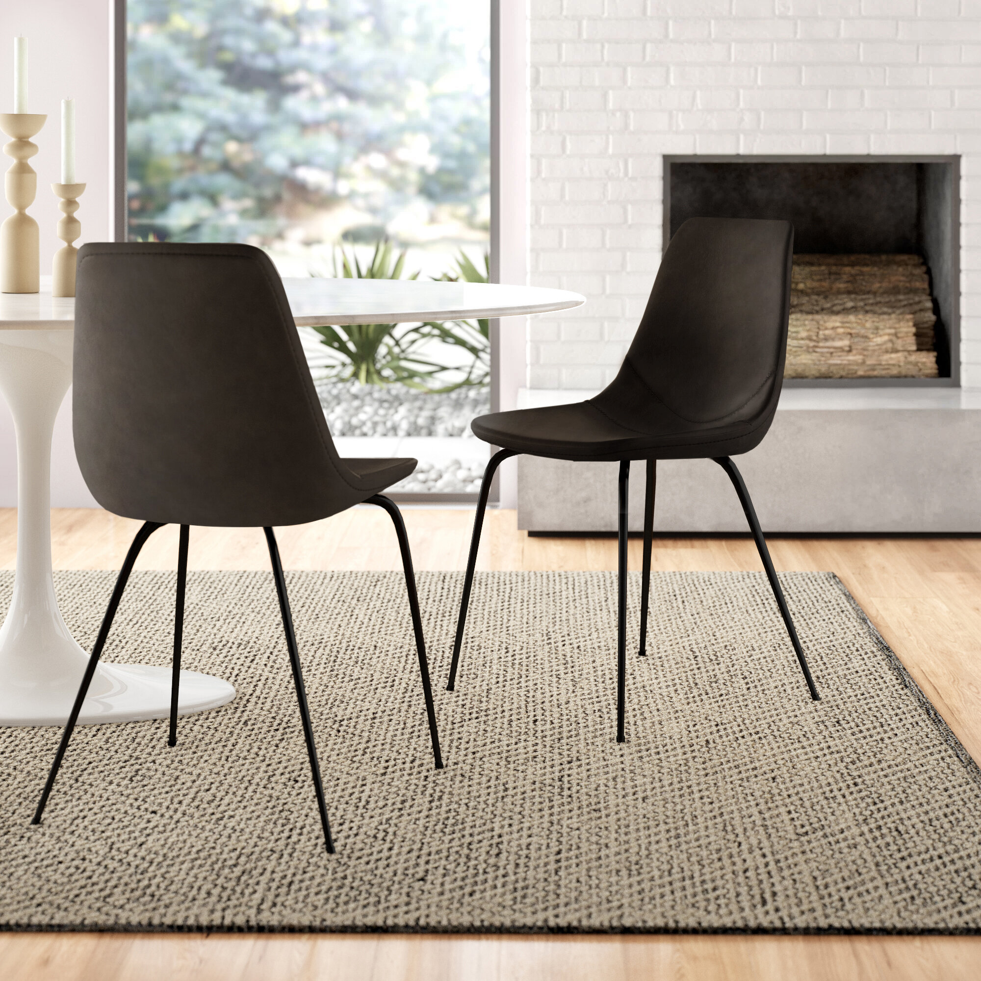 Union Rustic Braxton Upholstered Dining Chair Reviews Wayfair