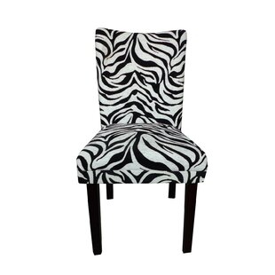 Tiger Striped Upholstered Dining Chair (S..