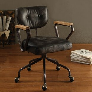 17 Stories Lipton Genuine Leather Office Chair