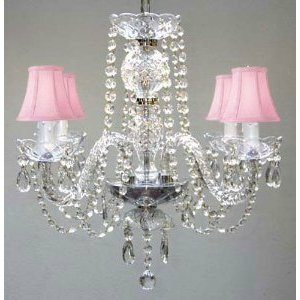 House of Hampton Karas Swarovski 4-Light Shaded Chandelier