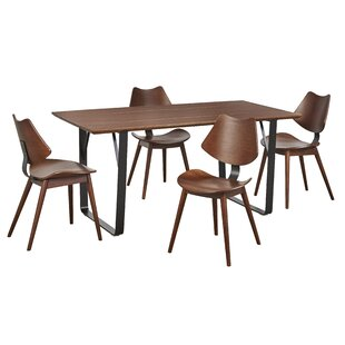 Fruithurst 5 Piece Solid Wood Dining Set George Oliver