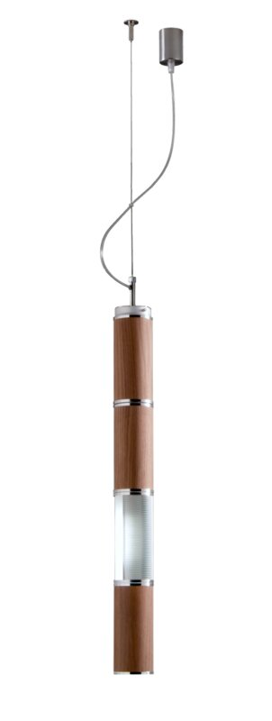 """&Costa Bambu Pendant  Size / Finish: 31.49"""" / Inox and Wood Diffuser"""