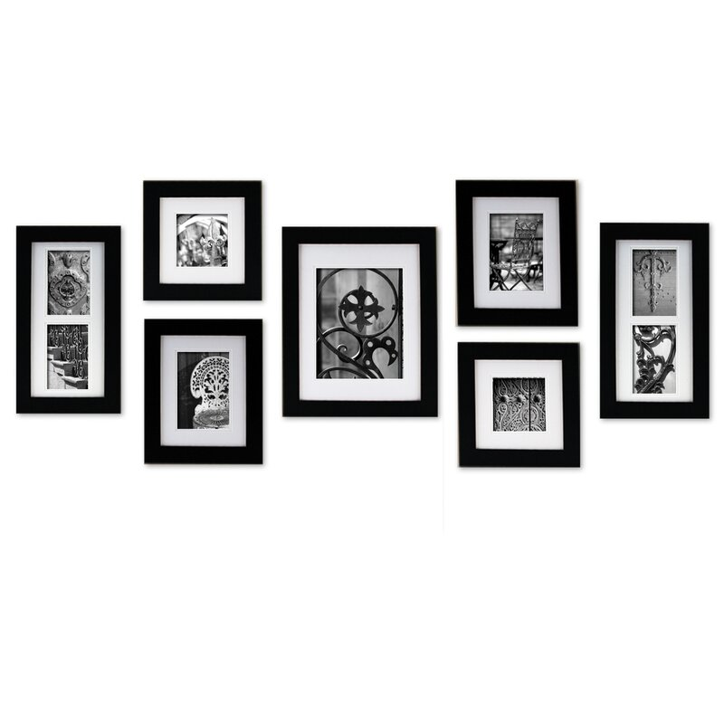 Red Barrel Studio Cabarite 7 Piece Create a Gallery Picture Frame ...