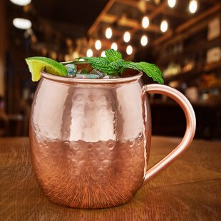 Hammered Solid Copper 16 oz. Moscow Mule Mug (Set of 2)