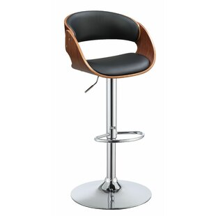 Burntwood Adjustable Height Bar Swivel Stool Corrigan Studio