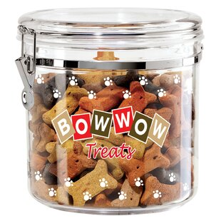 Acrylic Bow Wow Airtight 4.06 qt. Pet Treat Jar