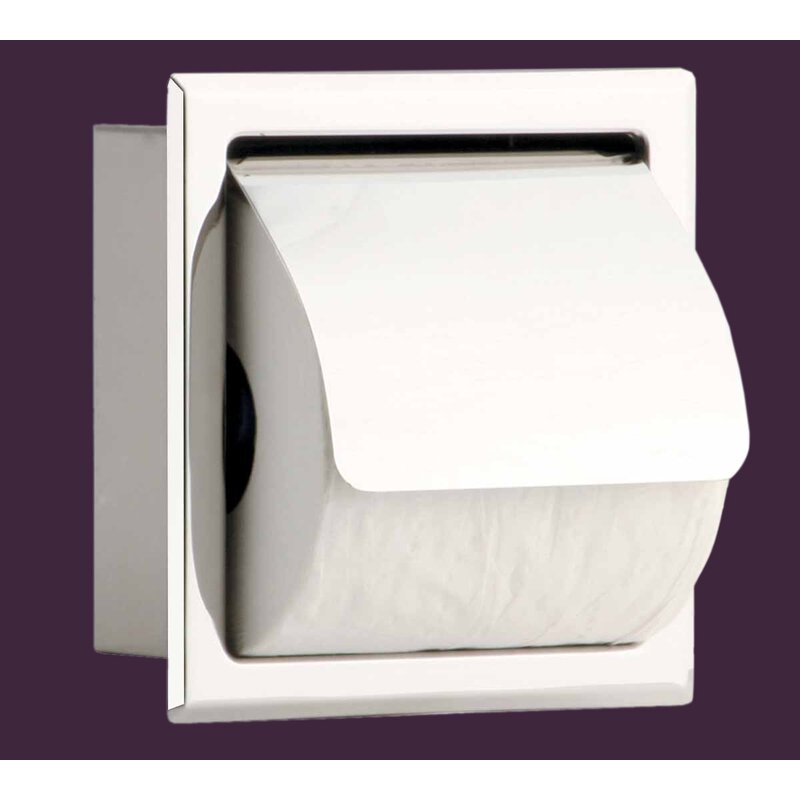 13792 Stainless Steel Recessed Toilet Paper Holder