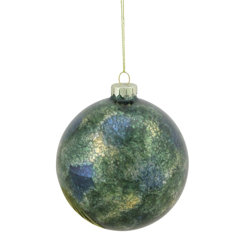 Mercury Glass Christmas Ball Ornament