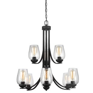 Laurel Foundry Modern Farmhouse Chubbuck 9-Light Shaded Chandelier