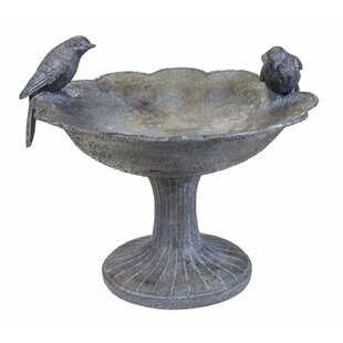 Benzara Two Birds Birdbath