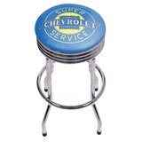 Chevy Super Service Ribbed 29 Swivel Bar Stool by Trademark Global