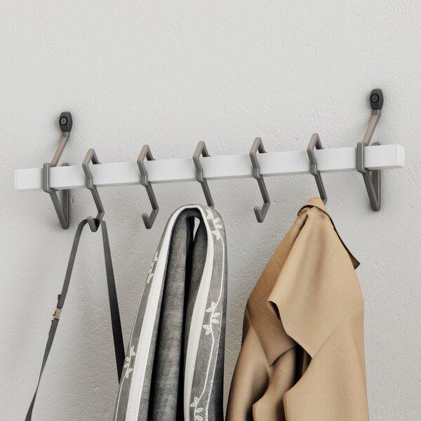 Jerez Metal Wall Mount Coat Rack With Hanging Hook Reviews Birch Adorable Silver Wall Coat Rack