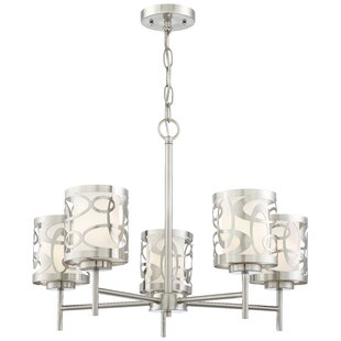 Latitude Run Drew 5-Light Shaded Chandelier