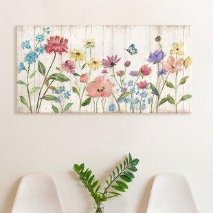 Wooden Floral Botanical Wall Art Joss Main