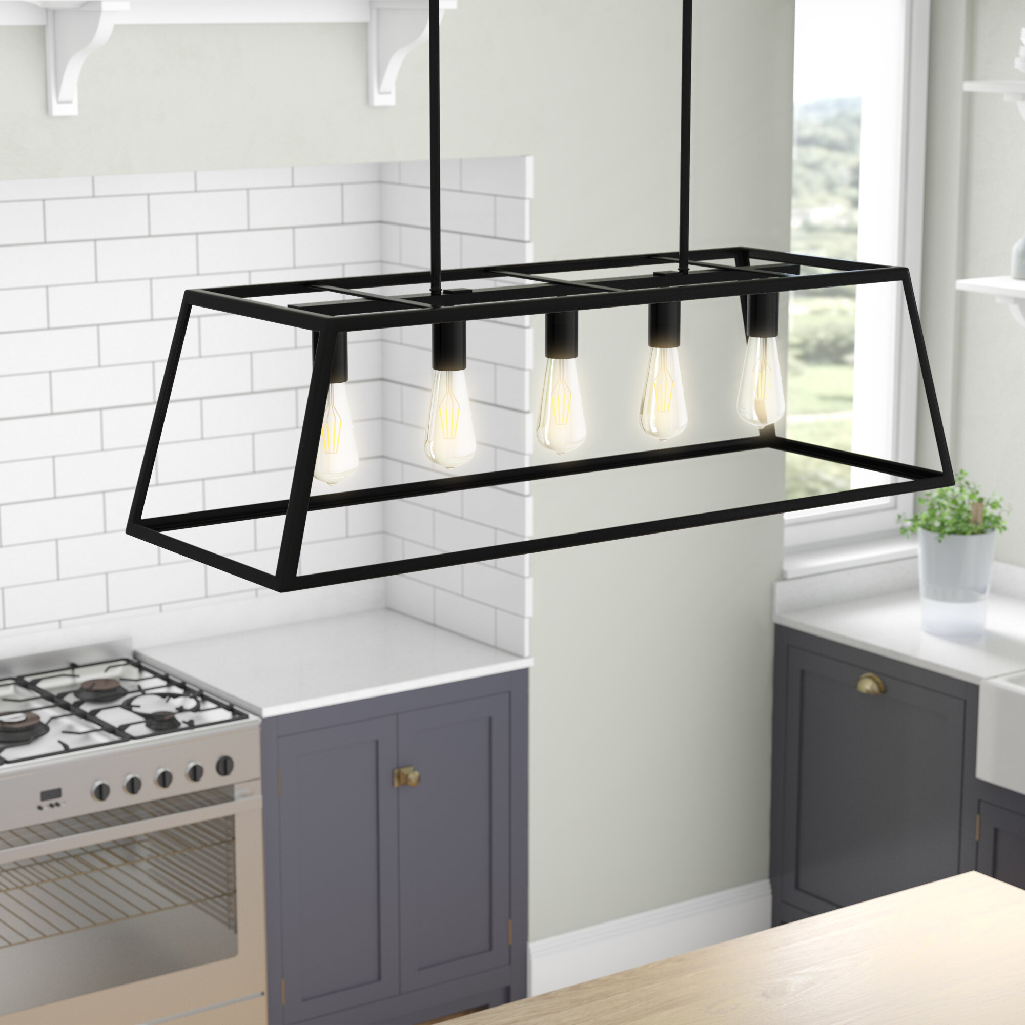 Wayfair & Wicklund 5-Light Kitchen Island Pendant