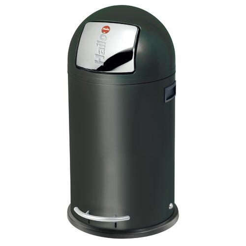 35 Liter Mülleimer KickMaxx aus Metall | Küche und Esszimmer > Küchen-Zubehör | Shiny black | Hailo