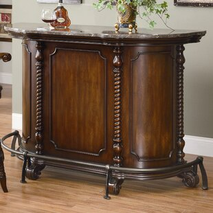 Darby Home Co Falco Bar with Wine Storage