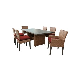 Waterbury 7 Piece Outdoor Patio Dining Set with Cushions