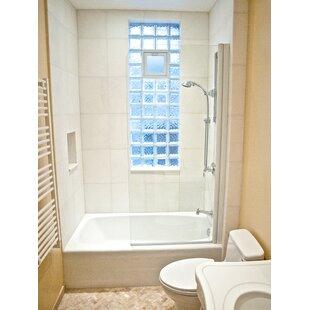 33.5 x 64 Pivot Semi-Frameless Tub Door ByArk Showers