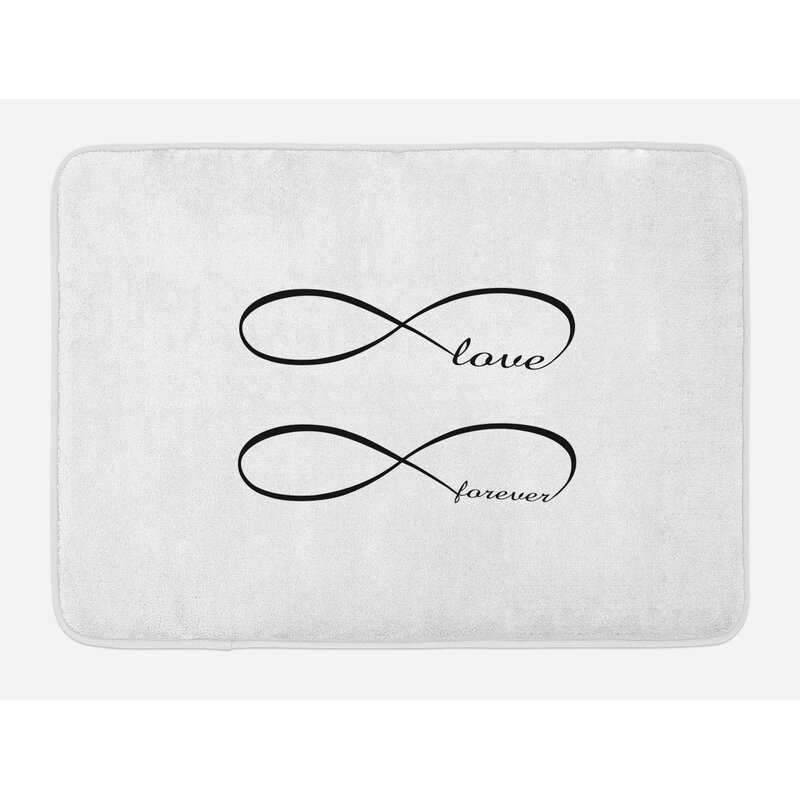 East Urban Home Ambesonne Love Bath Mat By Infinity Symbol With