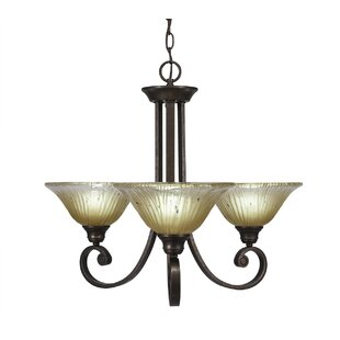 Fleur De Lis Living Babin 3-Light Shaded Chandelier