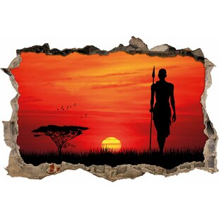 African Sunset Wall Sticker By East Urban Home
