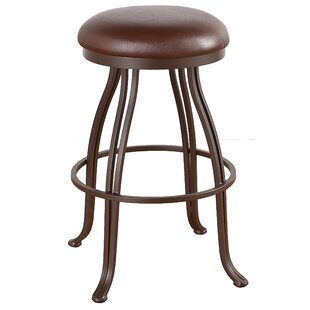 Hundley 34 Swivel Bar Stool Red Barrel Studio