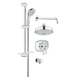 Shop This CollectionGrohe GrohFlex Thermostatic Tub and Shower Faucet   Reviews   Wayfair. Black Shower Head And Faucet. Home Design Ideas