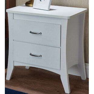 Jordy 2 Drawer Nightstand by Ebern Designs Coupon