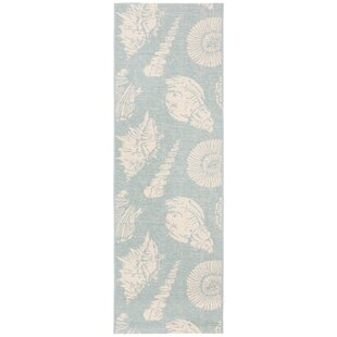 Plummer Beige/Aqua Indoor/Outdoor Area Rug