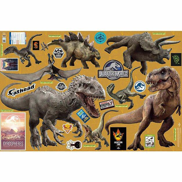 Fathead NBC Universal Jurassic World Dinosaurs Peel And Stick Wall - Jurassic world wall decals