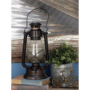 Cole & Grey Glass and Metal Lantern Set (Set of 3)