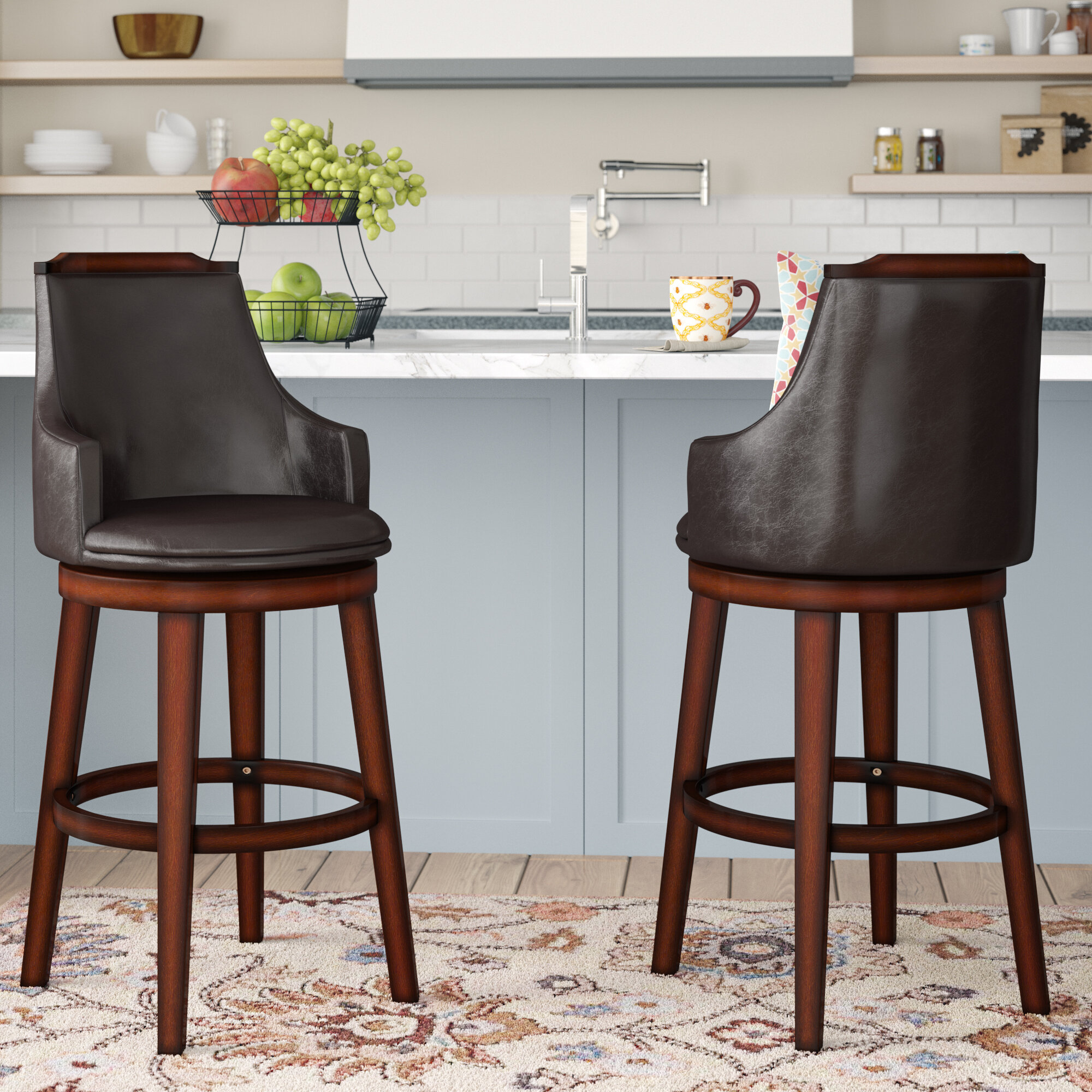 Picture of: Three Posts Allenville Bar Counter Swivel Stool Reviews Wayfair