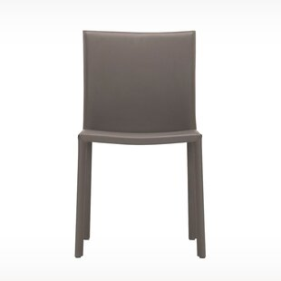 Acel Genuine Leather Upholstered Dining Chair by EQ3 Wonderful