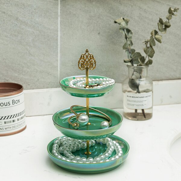 Vintage Ring Holder Gift for Her Beautifully Detailed Porcelain Jewelry Dish Keep Your Jewelry Safe and All in One Place