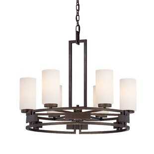 Designers Fountain Del Ray 6-Light Shaded Chandelier