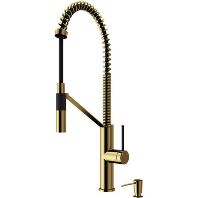 Livingston Magnetic Pull Down Single Handle Kitchen Faucet