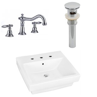 Affordable Price Ceramic Rectangular Bathroom Sink with Faucet and Overflow ByAmerican Imaginations