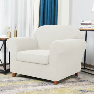 Howkwa Spandex Box Cushion Armchair Slipcover by Winston Porter