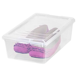 Compare 6 Quart Modular 1 Pair Stackable Shoe Storage Box By IRIS USA, Inc.