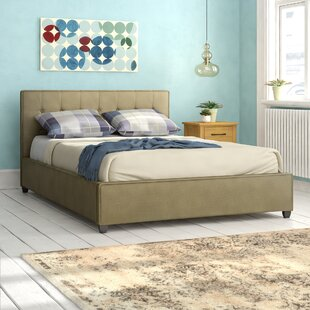 Review Fabric Button Standard Upholstered Platform Bed